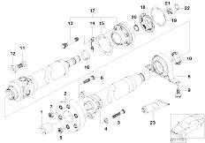 E65 730i M54 Sedan / Drive Shaft Drive Shaft Cen Bearing Const Vel Joint