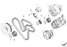 original parts for f01 740i n54 sedan    engine   belt drive