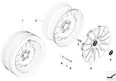 E92 323i N52N Coupe / Wheels Steel Rim Styl 12