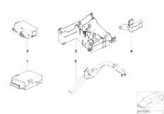 E39 520i M52 Sedan / Vehicle Electrical System/  Ews Control Unit Tr Module Support