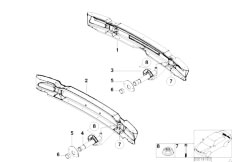 E46 M3 S54 Coupe / Vehicle Trim/  Carrier Bumper Rear