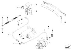 E46 330xd M57 Sedan / Engine Electrical System Battery Cable-2