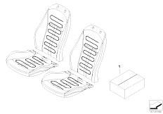E83 X3 2.0d M47N2 SAV / Seats/  Installing Set Heated Seat Front