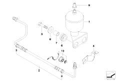 E38 750iLS M73 Sedan / Rear Axle Levelling Device Pressure Accumulator