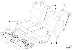 E83 X3 2.0d M47N2 SAV / Seats/  Through Loading Facility Seat Cover