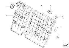 E83 X3 2.0d M47N2 SAV / Seats/  Trim Through Loading Facility