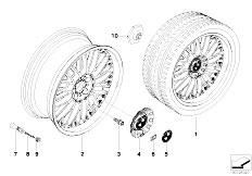E92 323i N52N Coupe / Wheels Bmw Compound Wheel M Cross Spoke 101