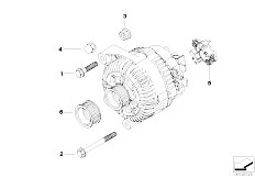 E92 325xi N52N Coupe / Engine Electrical System Alternator Individual Parts