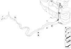 E63 645Ci N62 Coupe / Fuel Supply Fuel Pipe And Scavenging Line