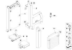 E63 645Ci N62 Coupe / Communication Systems/  Single Parts Sa 639 Sa 664 Trunk