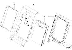 E83 X3 2.0d M47N2 SAV / Seats/  Rear Seat Ski Bag