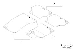 E65 730i M54 Sedan / Vehicle Trim Rubber Mat