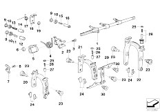 E39 523i M52 Touring / Manual Transmission S5d Z Inner Gear Shifting Parts