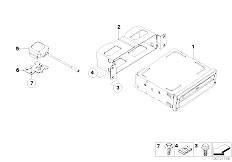 E85 Z4 2.0i N46 Roadster / Audio Navigation Electronic Systems Navigation System
