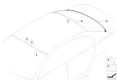 E65 730i M54 Sedan / Vehicle Trim Glazing Single Parts