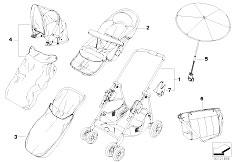 E30 318i M40 Cabrio / Universal Accessories Bmw Buggy Chrome Marine With Accessories