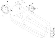 E85 Z4 2.0i N46 Roadster / Audio Navigation Electronic Systems Loudspeaker Front Hi Fi Syst