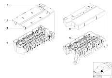 E39 520i M52 Sedan / Vehicle Electrical System/  Single Components For Fuse Housing