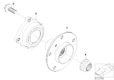 E60 520i M54 Sedan / Rear Axle Side Shaft Wheel Bearings