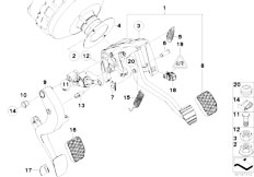 E87N 118i N43 5 doors / Pedals Pedals With Return Spring-2