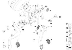 E87N 118i N43 5 doors / Pedals Pedals With Return Spring