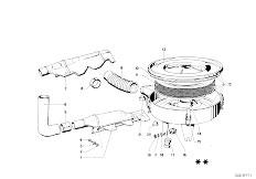 114 2002 M10 Sedan / Fuel Preparation System Suction Silencer Filter Cartridge