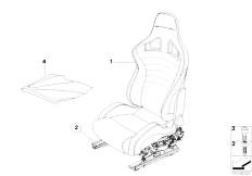 E91N 330i N53 Touring / Seats Bmw Performance Sport Seat