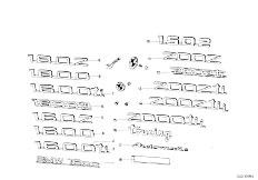 114 2000 M10 Touring / Vehicle Trim Emblems Letterings