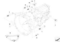 E90 320i N43 Sedan / Manual Transmission Gearbox Mounting Parts