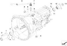E90 320i N43 Sedan / Manual Transmission Gs6 17bg Seals Mounting Parts