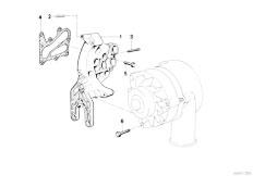 E38 L7 M73N Sedan / Engine Electrical System Alternatormounting Parts