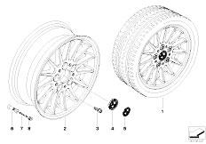 E92 323i N52N Coupe / Wheels Bmw Light Alloy Wheel Radial Spoke 32