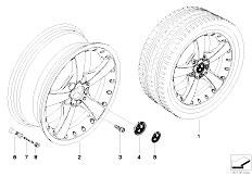 E92 323i N52N Coupe / Wheels Bmw Composite Wheel Star Spoke 179