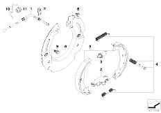 E81 118d N47 3 doors / Brakes Parking Brake Brake Shoes