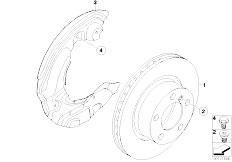 E81 118d N47 3 doors / Brakes Front Brake Brake Disc