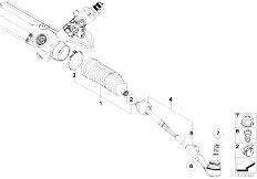 E87 116i N45 5 doors / Steering/  Steering Linkage Tie Rods