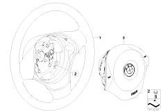 E87 116i N45 5 doors / Steering/  Steering Wheel Airbag