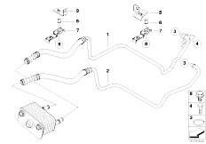 Original Parts For E53 X5 4 4i N62 Sav Radiator Transmission Oil