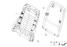 E91N 330i N53 Touring / Seats Front Seat Backrest Frame Rear Panel