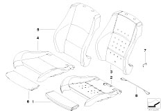 E91N 330i N53 Touring / Seats Sports Seat Upholstery Parts