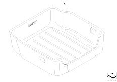 E65 730i M54 Sedan / Vehicle Trim Luggage Compartment Pan