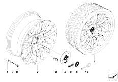 E92 323i N52N Coupe / Wheels Bmw La Individual Wheel V Spoke 152