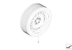 E92 323i N52N Coupe / Wheels Winter Wheel Tyre Steel