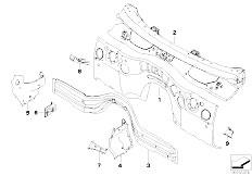 E90N 320i N43 Sedan / Bodywork Splash Wall Parts