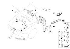 E65 730i M54 Sedan / Vehicle Trim Various Body Parts