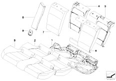 E91N 330i N53 Touring / Seats Through Loading Facility Seat Cover
