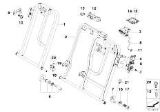 E83 X3 2.0d M47N2 SAV / Seats/  Through Loading Facility Single Parts