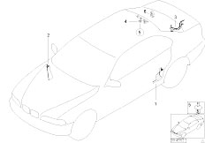 E46 320d M47 Touring / Vehicle Electrical System/  Cable Covering