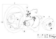E87 116i N45 5 doors / Steering/  Airbag Sports Steering Wheel Multifunct