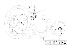 E87 116i N45 5 doors / Steering/  Airbag Sports Steering Wheel